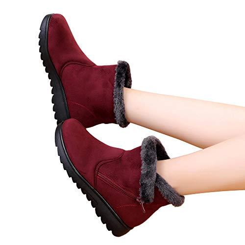 TianWlio Stiefel Frauen Winter Warm Schuhe Stiefeletten Boots Halten Schlüpfen Schneestiefel Weihnachten Damen Winter Knöchel Martin Kurz Schnee Stiefel Pelzschuhe Warme Schuhe