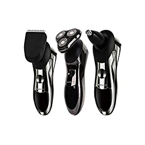 ROZIA 8 in 1Rechargeable Wet & Dry Men's Electric Shaver & Trimmer Grooming Kit, Men's Electric Razor, Facial Cleaning Brush, Beard Trimmer,Nose Trimmer
