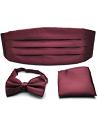 PenSee Faja para hombre, cintura, color rojo vino