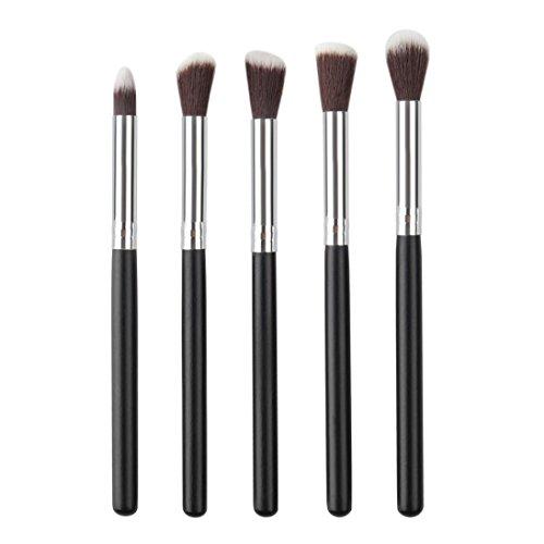 Brush Cosmétique, Kingwo Ombre à Paupières Yeux Eye Liner Maquillage Fond De Teint Blush 10PCS (Nior)