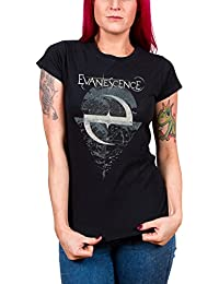 Evanescence Shirt Space Map Band Logo Official Womens Skinny Fit Black