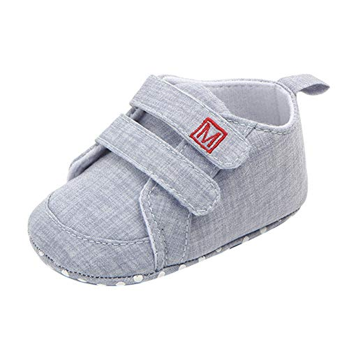 Miyanuby Scarpe Neonato Suola Morbida Anti Scivolo Scarpe da Tennis Casual Prewalker Sneaker Bimbi 0-18