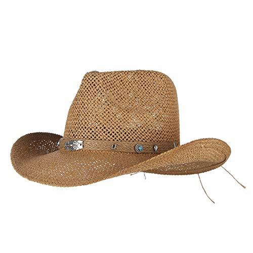 LIWEIL Sommer Panama Beach Hut Western Cowboys Cap für Männer Atmungsaktiver Strohhut Frauen Skorpion Anhänger Sonnenhut Cowgirl Jazz Cap