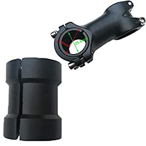 Black Bicycle Bike Handlebar Bar Shim Spacer Stem Reducer 25.4mm to 31.8mm