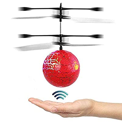 HUANDATONG Flying Control Toy, Flying Ball Drone, RC Infrared Induction Helicopter Ball Drone, Built-in Hoover LED Lighting for Kids, Teenagers Colorful Flying Drone for Kid and Adults