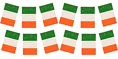 My Planet 24 x Ireland Premium Quality Irish Flag Bunting Huge 10m Party Decoration Banner from My Planet