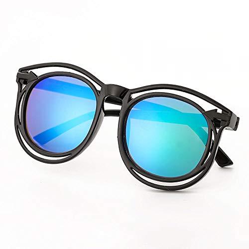 CYCY Kindersonnenbrille Sonnenblume Brille süße Baby Sonnenbrille Jungen und Mädchen Brille Baby Flut Porzellan weiß, schwarz Rahmen blau reflektierend