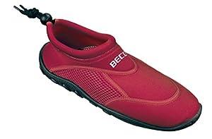 BECO Badeschuhe / Surfschuhe für Damen und Herren rot 39