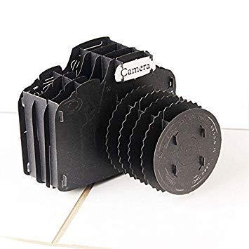 Idea high - biglietti d'auguri 3d pop up creativi fatti a mano con macchina fotografica