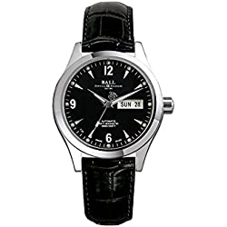 Reloj Ball Engineer II Ohio, Ball RR1102, Negro, Cierre Desplegable, 40mm.