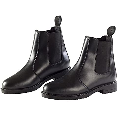 Ekkia Horse Riding Equi Leather Childrens Jodhpur Boot Black Size 2