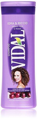 Vidal - Shampoo, Idra e Riccio con Elastina ed Estratto di Uva Spina - 250 ml