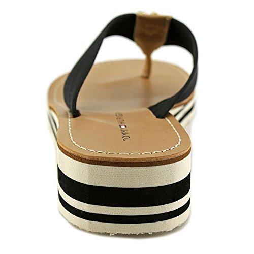 Tommy Hilfiger Rayce Textile Keilabsätze Sandale Black Multi