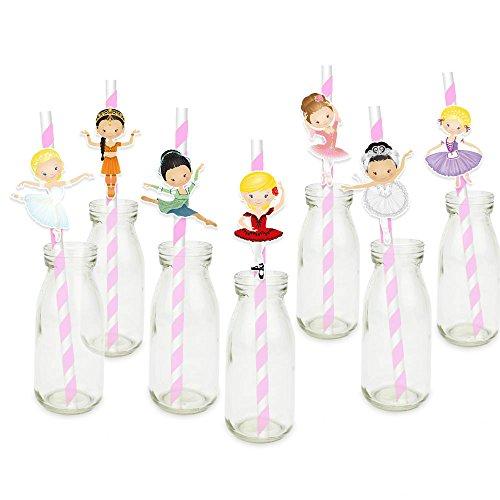 Ballerina Party Supplies - Ballerinas Ballett Stroh Papier Trinkhalme Geburtstag