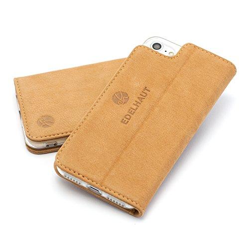 EDELHAUT Handytasche V2.0 mit unsichtbarem Magnetverschluss in braun für Apple iPhone 8 und 7 4.7 aus echtem Leder