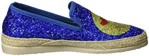 I love candies Glitter, Mocassini Donna Blau (Blue)