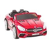 SUNCOO 12V Voiture Véhicule Enfant Roues Motorisées Homologuées Mercedes-Benz SL65 AMG Roadster Voiture pour Enfants avec Télécommande 3 Vitesses Lumières LED et Suspension à Ressort et Verrou de Sécurité,Rouge