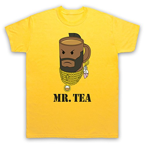 Mr Tea B A Baracus Funny T-shirt for Men - Many Colours and Sizes