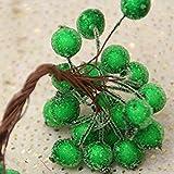 1cm 20pcs/lot Mini Plastic Frozen Artificial Berry Bouquet Flower