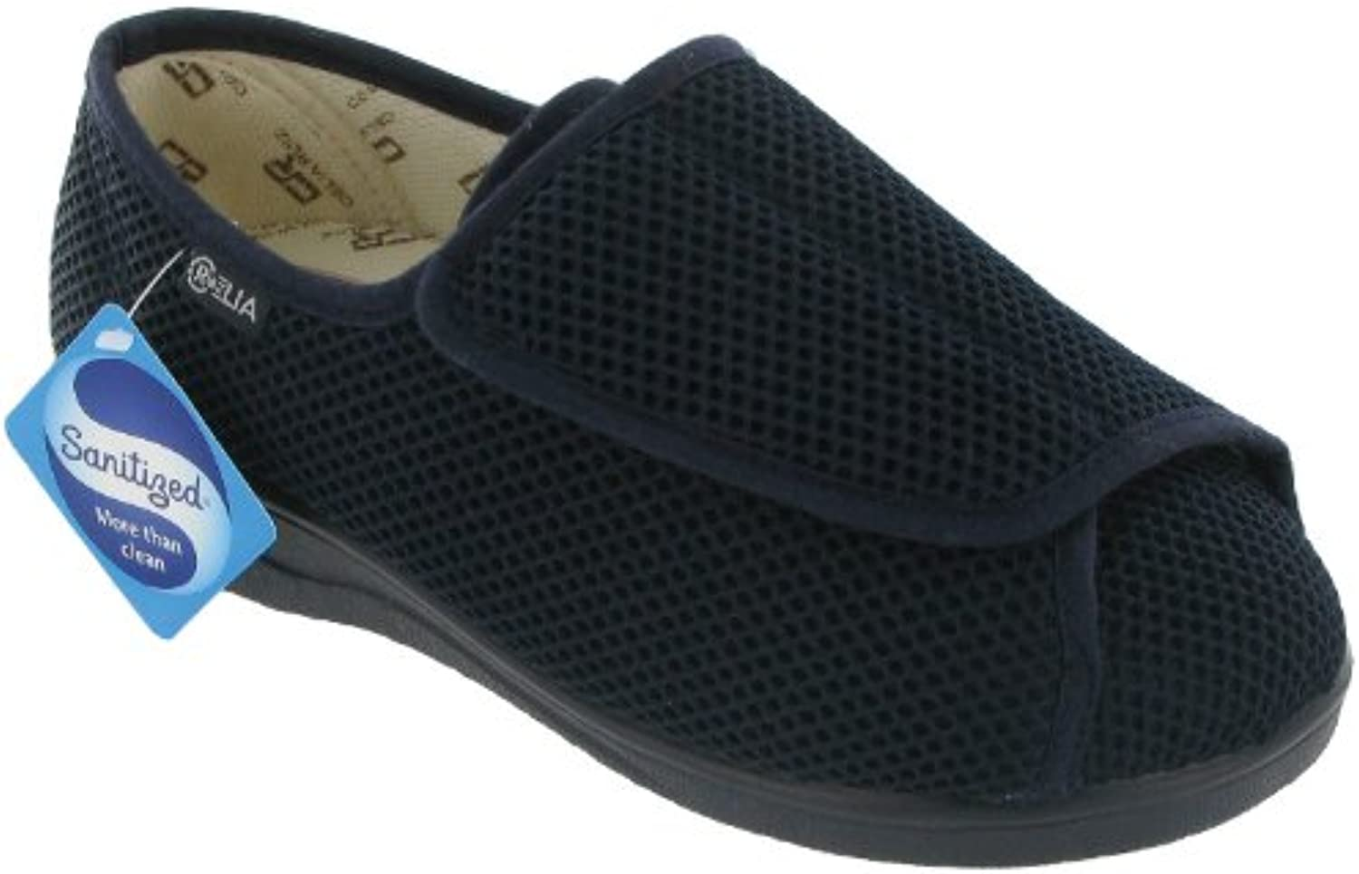 Mirak Mens Celia Ruiz 300 Touch Chunky Ergonomic Slipper Navy