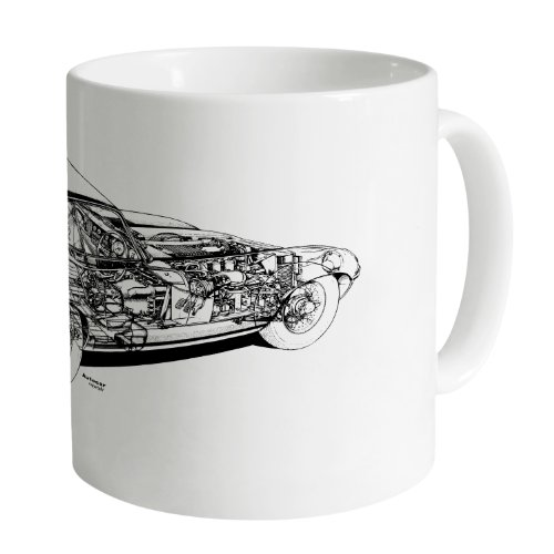 Jag E Type Cutaway Mug, used for sale  Delivered anywhere in Ireland