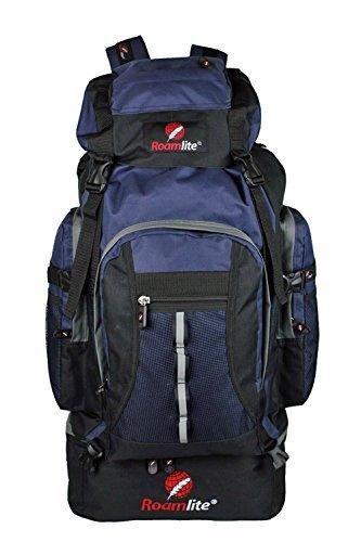 Roamlite Zaino da 80 85 Litri per campeggio escursionismo. RL02Mi - Nero blu navy