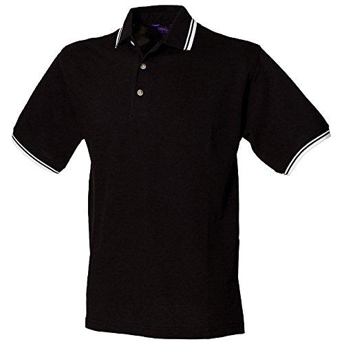 HenburyHerren Langarmshirt Black/White