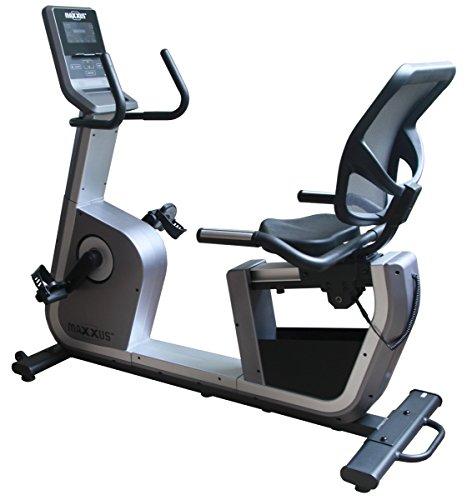 MAXXUS Ergometer Recumbent Bike 6.2R, tiefer Einstieg, bis 120kg belastbar, Magnetbremssystem, Netz-Rückenlehne, Trainingsprogramme, Aufstellmaße 1460x670x1460mm