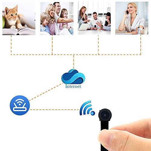 Mini WiFi Telecamera UYIKOO Hidden Spy Camera 1080P HD Telecamera Wireless Rilevazione Movimento con Angolo di visione Ampio Supporto 140 ° per Android/iPhone - 3