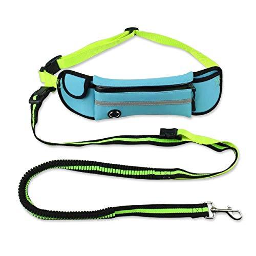 FANQIECHAODAN Zugseil Sporttaschen Pet Teleskop Zugseil Hochleistungsseil Leine für kleine und mittlere Haustier-für Stoßdämpfung (Farbe : Blau)