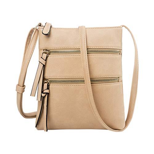 Handy Schultertasche für Damen/Skxinn Mädchen Sportliche Handtasche Umhängetasche Schultertasche aus PU-Leder für Frauen, Wandern, Reisen,Party,Ausverkauf(Khaki) -