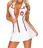 365-Shopping Costume Fever da Infermiera, con Abito e Cappello Nurse Halloween (Taglia Unica, Tipo 1)