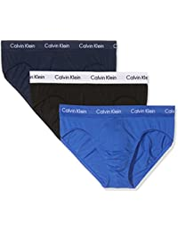 Calvin Klein Underwear Men's Cotton Stretch 3P Hip Brief Plain 3 Pants Lot 3