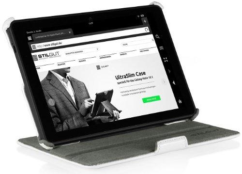 StilGut UltraSlim Case V2, mit Stand- und Präsentationsfunktion für Amazon Kindle Fire HDX 7-Tablet, weiß