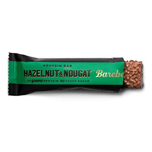 Barebells Proteinriegel Hazelnut & Nougat 55g x 12 | Proteinreich Kohlenhydratarm | Kaum Zucker | 20 Gramm Protein pro 55-Gramm-Riegel | Köstliche Proteinriegel für Muskelaufbau und -regeneration