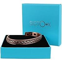 Slim Magnetisch Kupfer Armreif/Armband geflochten design by sisto-x ® GESUNDHEIT Stärke 6Magnete preisvergleich bei billige-tabletten.eu
