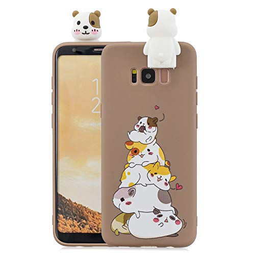 SEEYA Funda Silicona Galaxy S8 Plus Carcasa 3D Perrito