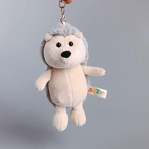 Neue Schlüsselanhänger Kleine Geschenktüte Tasche Zubehör Cartoon Tier Plüsch Anhänger Kind Junge Mädchen 15Cm Grau Igel (Valentines Hund Stofftier)
