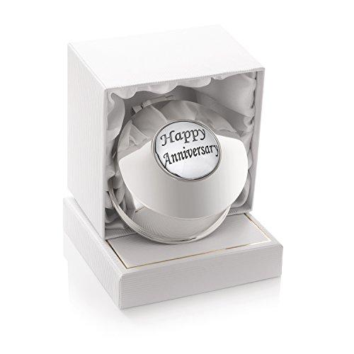 De Walden 25. Silber Hochzeit Jahrestag Geschenk Damen Versilbert Ohrringe Schmuckkästchen Ring Klein Schmuck Box