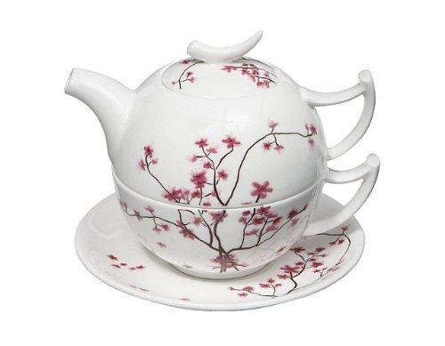 Tea for One Set Cherry Blossom - TeaLogic Fine Bone China Blossom Bone China