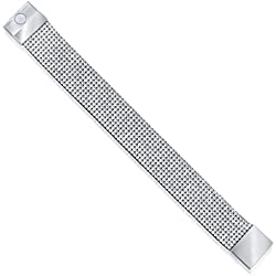 Vk Jewels Refined Bracelet Silver Brass Alloy Cz American Diamond Bracelet for Women Vkbr1003R