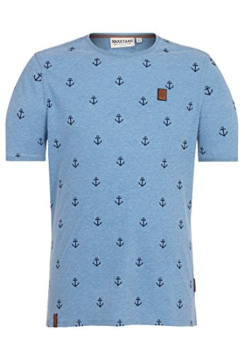 Naketano Male T-Shirt Fuck Light Blue Melange