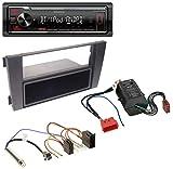 Kenwood KMM-BT205 USB Bluetooth MP3 AUX Autoradio für Audi A6 01-05 C5 Symphony Bose Aktivsystem Mini-ISO
