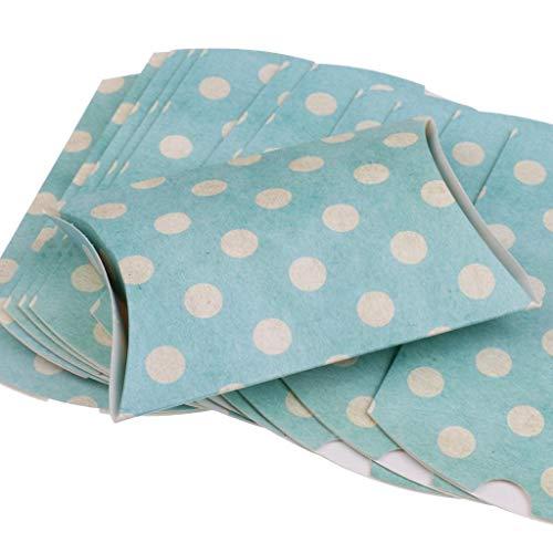 Farmerly 24Pcs Fashion Dots Pillow Candy Boxes Wedding Party Favor Boxes Pink+Blue (Blue Wedding Favor Boxes)