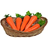 Thefancymart artificial 32 cms lengh basket with artificial 5 vegetables