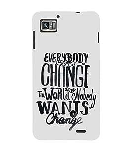 FUSON Change The World 3D Hard Polycarbonate Designer Back Case Cover for Lenovo K860 :: Lenovo IdeaPhone K860