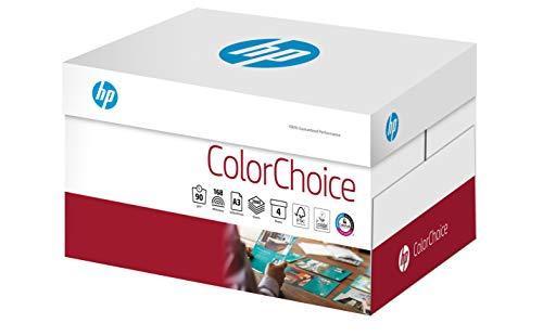 HP Druckerpapier, Farblaserpapier Colorchoice CHP760 - 90 g, A3, 2000 Blatt (4x500), Extraglatt, Weiß - für brillante Farben - Inkjet-laser-drucker Hp