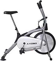 Kobo Ab-1 Exercise Bike with Electronic Meter (Silver)