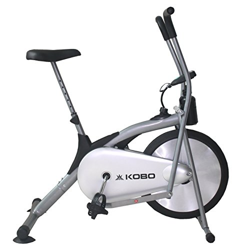 Kobo Air Bike Delux Exercise Cycle With Electronic Meter (Black)