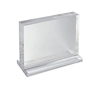 Azar Displays 104522 Deluxe Horizontal Acrylic Block Stand, 11
